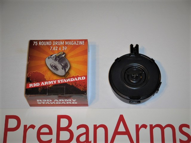 006 RED ARMY AK-47 75 Round Drum Magazine, NIB, NR! Image