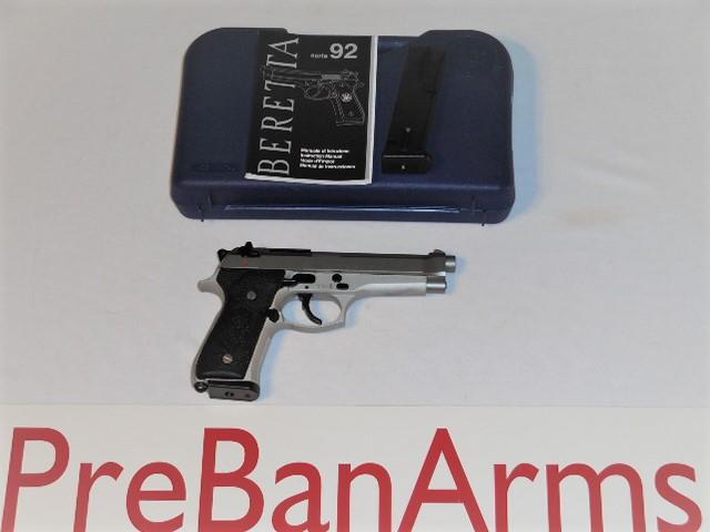 6420 Beretta 92F 9mm Stainless, 92FS Italian, NIB! Image