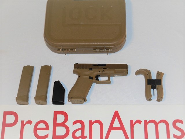 6621 Glock 19X FDE, Glock 19X Gen 5, Glock 9mm, NIB! Image