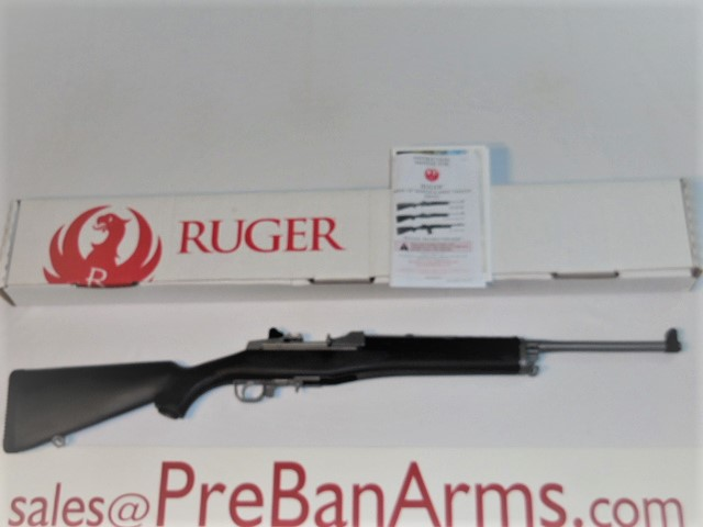 6988 Ruger Mini-14 Ranch, Ruger Mini-14 Stainless, Ruger 5817, NIB! Image
